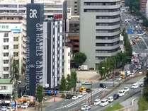 ホテル遠景写真(ホテル南側、熊本大学病院から撮影)
