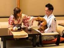 愛犬と過ごす本格旅館月香【シニア犬とゆったりプラン】★お食事もくつろぎの時もワンちゃんとずっと一緒★