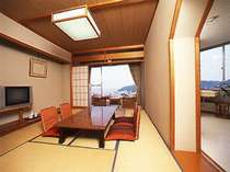 シアター別館の客室一例。景観は部屋によって異なります。