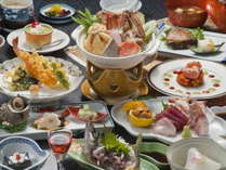 和食料理一例です。料理内容は季節や日にち等で異なります。