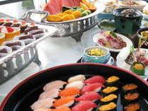 ミニ会席と蟹・寿司・天麩羅食べ放題プラン