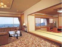 特別室一例(和室+洋間+海側眺望)