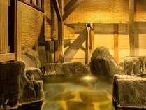◆川の湯◆【岩風呂】清流佐梨川のせせらぎを聞きながらのんびりとご入浴ください。