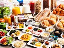 北海道産食材を中心とした島の恵みが届けてくれる体と心にやさしい朝食ビュッフェ。