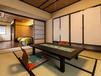 【ほにやコーナースイートルーム】地元の人気デザイン会社とコラボレーションした可愛い人気のお部屋です。