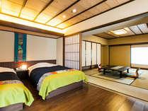 広々とした限定4部屋のコーナースイートの一部屋。可愛いデザインで人気です。