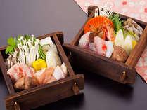 土佐蒸篭チョイスは、肉系か魚介系をお選び頂けます。