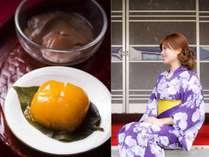 6月ー9月平日、宿の縁側が「天の川カフェ」に変身☆ブランデー風味の柿シャーベットを