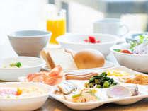 五島自慢の食材を使用した朝食バイキング