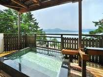 【貸切展望風呂】田沢湖を一望できる四季折々の景色を