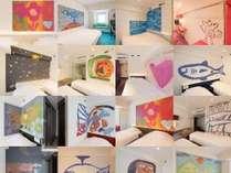 89部屋「全て」に違うアート。ビジネス利用も観光も、もっと楽しいホテル滞在を。