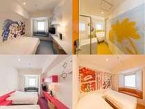 80部屋「全て」に違うアート。ビジネス利用も観光も、もっと楽しいホテル滞在を。