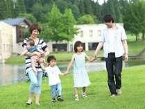 【家族旅行】自然豊かなあてま高原で、お子様と一緒にリゾートステイをお楽しみください(イメージ)