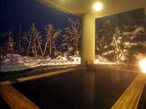 【ふるさとの湯(露天)】雪見露天は雪国ならではのお楽しみ。