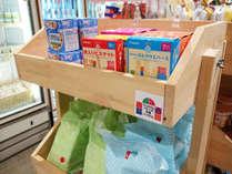 【売店】離乳食やオムツ、お尻拭きなどの赤ちゃん用品コーナーもございます。