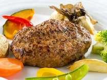 【アイリス(ディナー)】スタンダードコース:雪温貯蔵にいがた和牛ハンバーグステーキ(約220g)