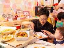 【ご夕食】和洋中ブッフェ一例:離乳食やアレルギー対応調味料のご用意もございます。