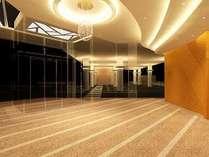 【新館】1階ロビー内装。開放的なロビーで皆様をお出迎え。