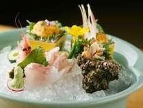 ■料理■新鮮な日本海産直送の魚介類をお刺身で♪