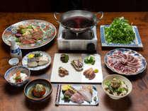 【夕食】季節のしゃぶしゃぶがメインの全7品