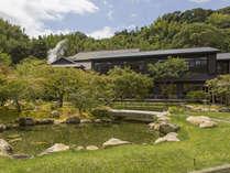 玉峰館と日本庭園