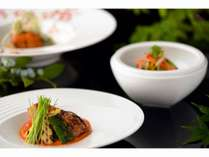 プリフィックススタイルのメイン魚料理
