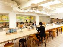 カフェラウンジはお仕事スペースとしてもお使いいただけます。