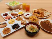 和洋30種の朝食ブッフェは大人気!