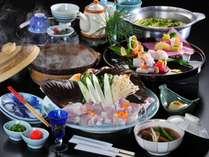 """""""天然本くえ""""のあふれる旨味をお楽しみください。※写真の大皿は2名様盛りです。"""