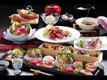 鮑、中トロ、牛ステーキ、小鍋は2種類からお好みで選べる!料理長おすすめ!【特選会席プラン】