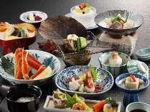 ●お肉と鱈鍋がついた冬の味覚会席