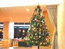 ロビーのクリスマスツリー。