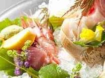 旬の「お造り盛り合わせ」富山では活きのいい魚はキトキトの魚といいます。