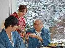●元日と二日の朝食時に厄除けと長寿を願って『御屠蘇』が振舞われます。