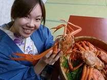 ●富山湾の冬の味覚!ゆで紅ずわい蟹です。 生を茹でてご提供しています。 甘いくて美味しいです!!