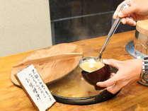 【朝食バイキング】黒部峡谷の美味しい水で育った「なっちゃんなめこ」が美味しい味噌汁です