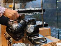 【朝食バイキング】黒部宇奈月の名水仕立ての特別なコーヒーです。食後の一息に最適です。