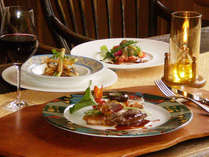 ≪Dinner Menu / 例≫新鮮な食材によりメニューを組み立てておりますので当日のディナーをお楽しみ下さい。