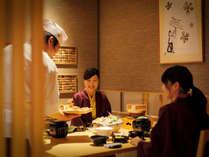 【茶寮・烏月】夕食|テーブル席