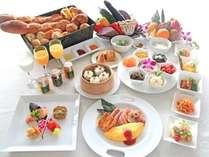 暖琉満菜の朝食バイキングイメージ。1日の始まりは美味しい朝食から。(朝食営業06:30-10:00)
