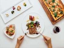 旬の野菜を使った創作沖縄料理とこだわりの和洋中を味わえるディナー