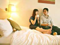 東京観光を満喫した後はホテルのふかふかベッドでのんびり♪♪