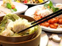 【夕食一例】岩手県産のものを中心に、旬の食材や自家栽培の野菜を使用した本格中華
