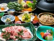 【然 ZEN】10種類の季節野菜と黒豚のしゃぶしゃぶ会席プラン