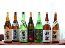 利き酒師&ソムリエのオーナー厳選の日本酒は常時20種以上、焼酎も10種以上