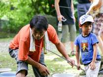 【マス釣り体験】お子様や初心者も気軽に楽しめる!渓流が流れる自然豊かな森で沢遊び♪