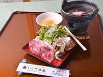 *≪米沢牛のすき焼き鍋≫メインに飯豊産特選米沢牛のすき焼き鍋をご用意いたします。