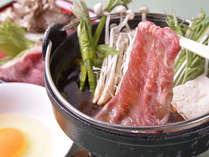 *≪米沢牛のすき焼き鍋≫甘味のあるお肉は口の中でとろける美味しさ!