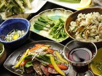 ♪《自然の恵み盛りだくさん》鴨肉のローストと岩魚の塩焼き付プラン