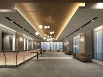 ゆったり広々とした空間!フロント・ロビーはホテル2階にございます